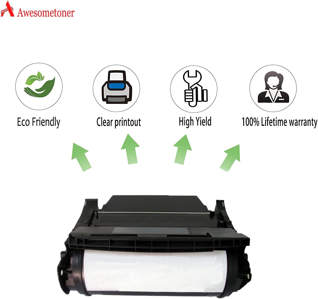 T620dn T620in Black, 3-Pack T620n Awesometoner Remanufactured Made in USA Toner Cartridge Replacement for Lexmark 12A6865 T620 use with T620