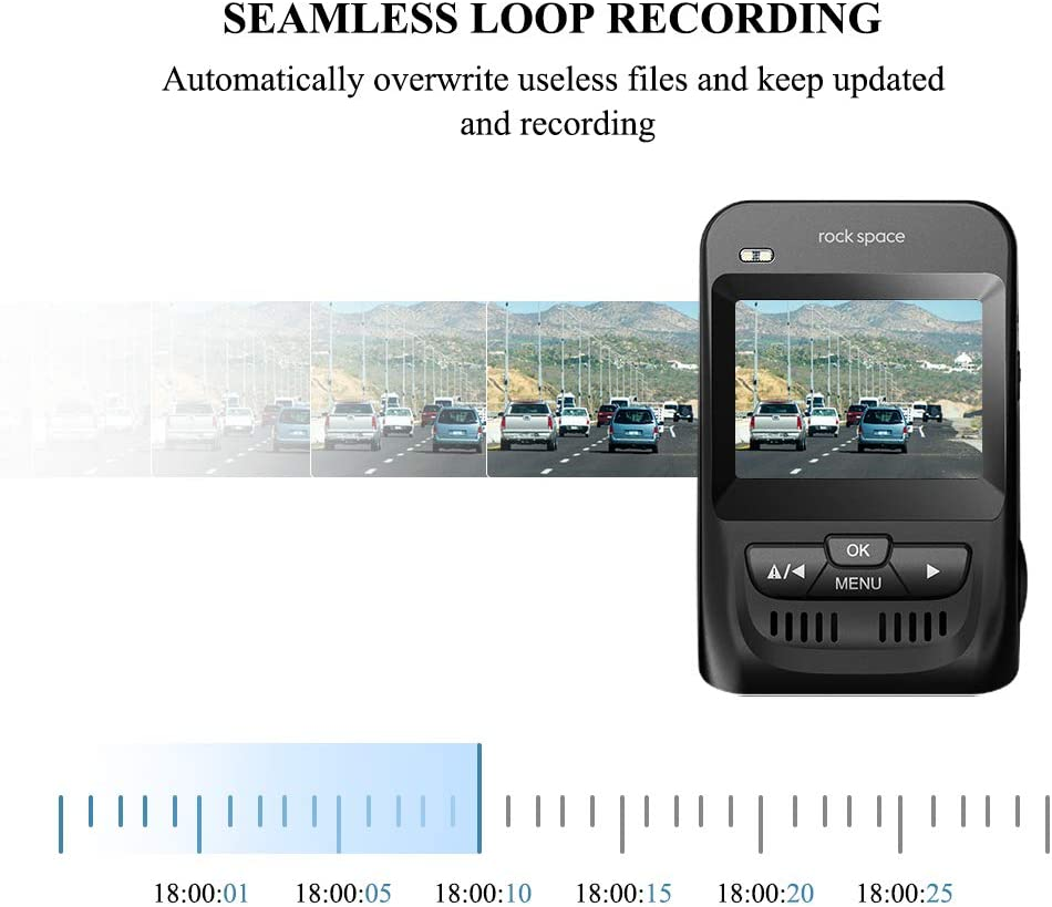 Loop Recording and WDR//HDR G-Sensor and Super Night Vision Car Camera with Sony Image Sensor Dash Cam-1080P FHD Dash Camera 2.3 LCD with 150/° Wide Angle Car Driving Recorder for Most Climates