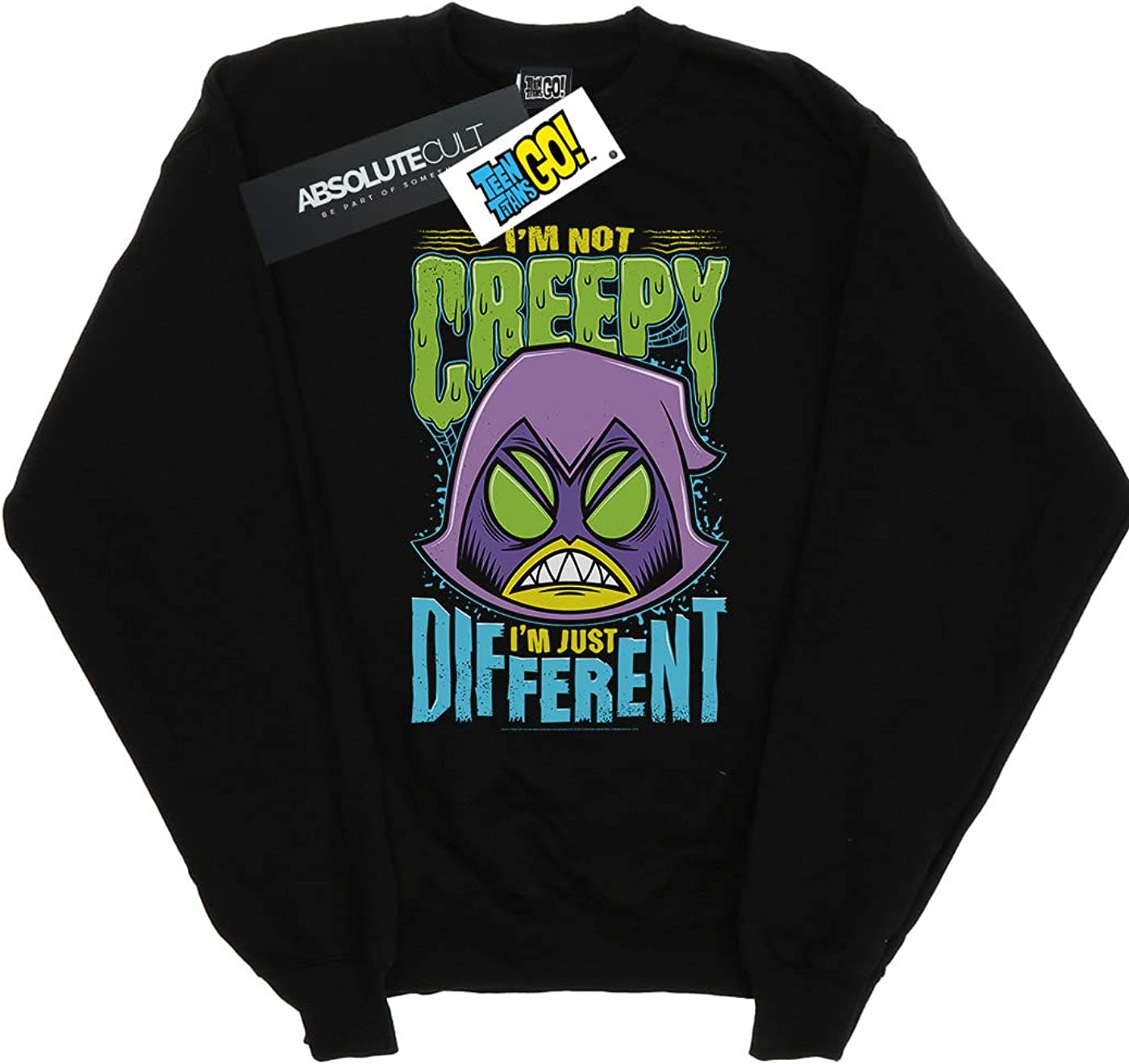 DC Comics Girls Teen Titans Go Creepy Raven Sweatshirt