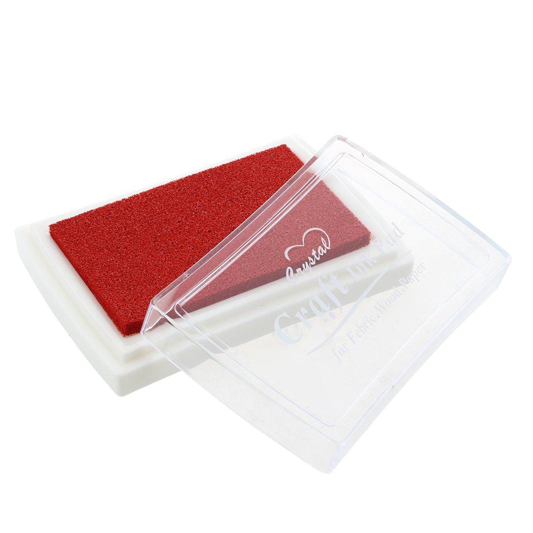 Sonline Tampone Cuscinetto Preinchiostrato per Timbri Manuali da Tavolo Rosso