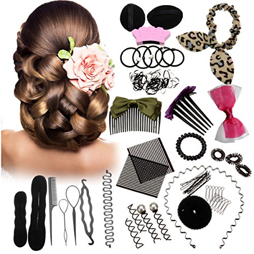 45PCS Hair Styling Kit LuckyFine Hairdresser Magic Hair Clip