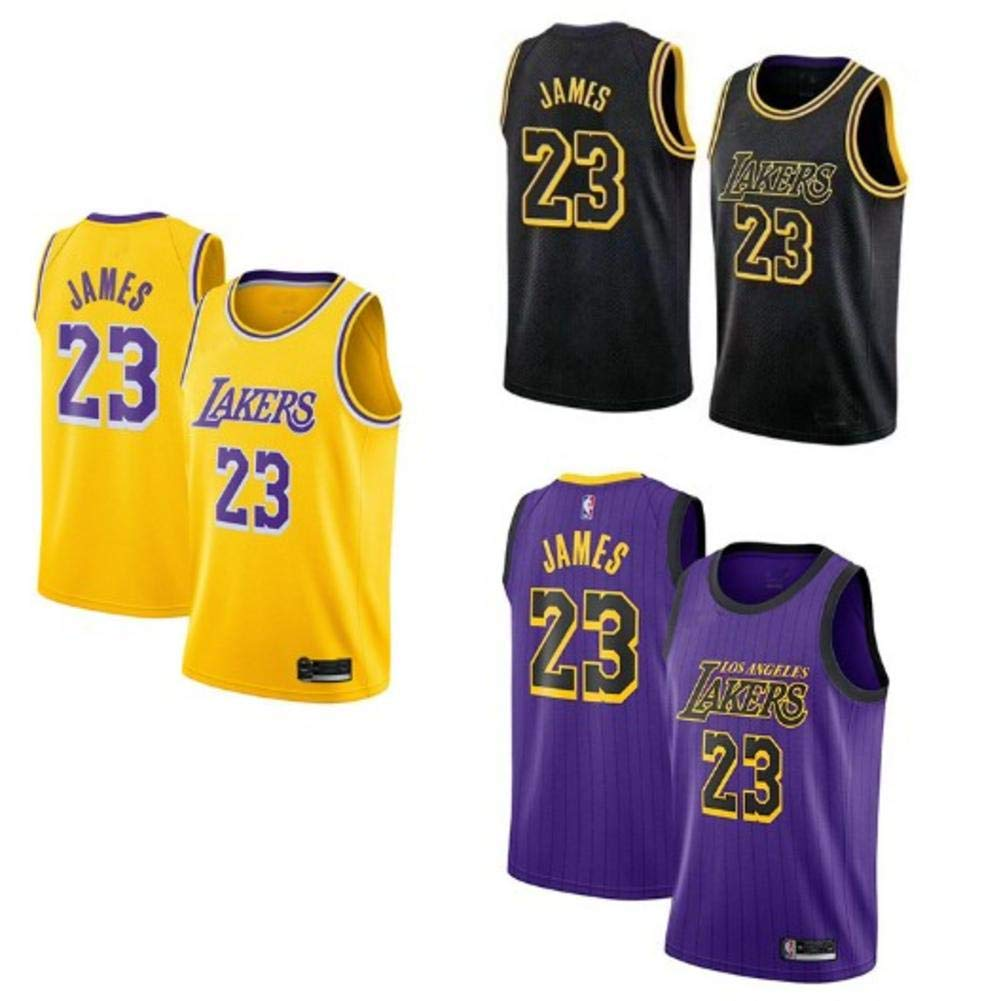 HSLBQFQ Lebron James #23 Mens Basketball Jersey Lakers Basketball Jersey Retro Gym Vest Sports Top,Blue,S