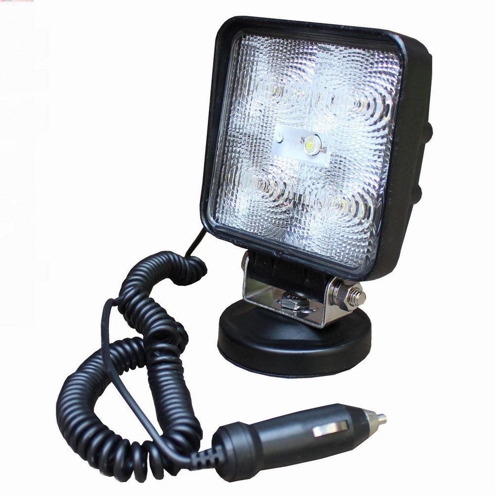 MCTECH 15W LED Lampe de Travail Flood Feu Phare Anti-brouillard carré noir étanche IP67 Camion Bateau
