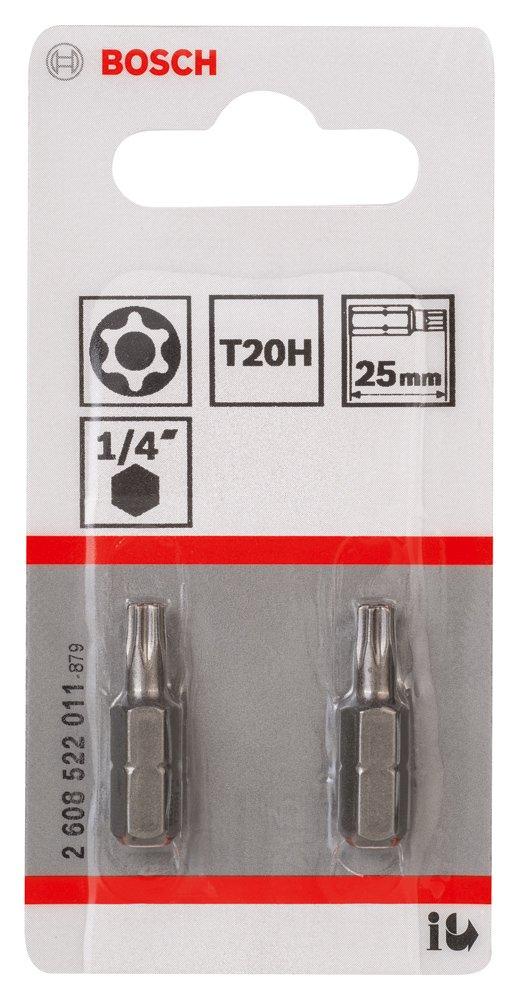 Bosch 2608522007 Embout de vissage security-torx qualit/Ã/© extra-dure T8h 25 mm