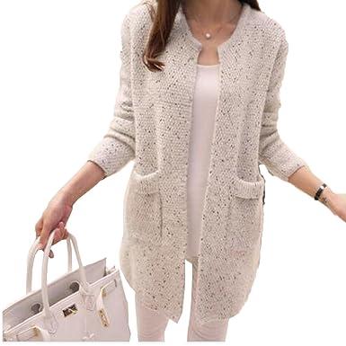 À Coréenne Automne Length Sweater Femmes Laine Printemps Masterein En Cardigan Mid Manches Longues Manteau wqCf0xnp