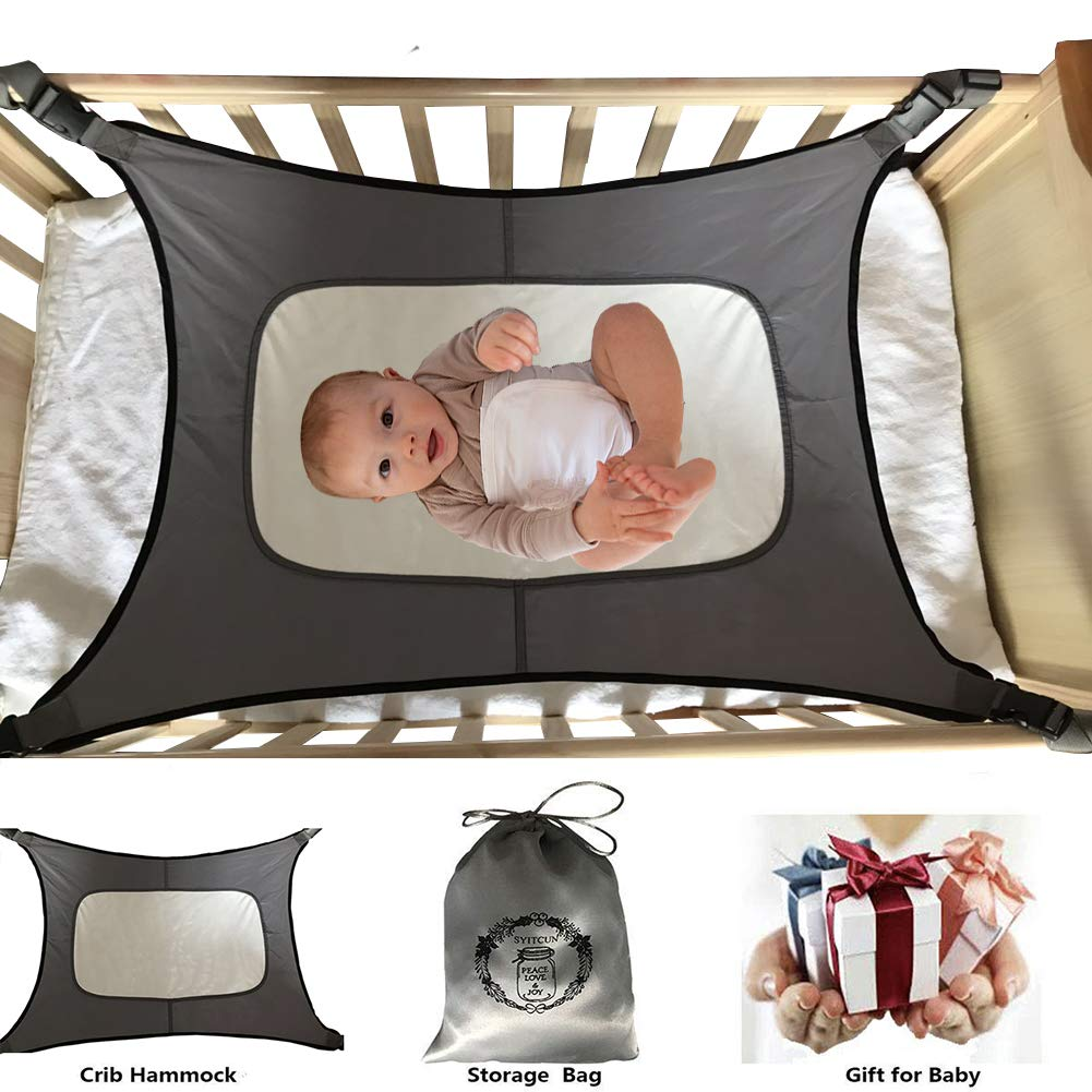 Baby Hammock for Crib Fit Mini Crib & 'n Play Mimics Womb Bassinet Hammock Bed Enhanced Material Upgraded Safety Measures Newborn Infant Nursery Bed