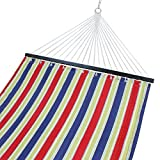 Cheap SUPER DEAL Hammock Quilted Fabric with Pillow Double Size Spreader Bar 450lbs Capacity Heavy Duty Stylish (Red and Blue)