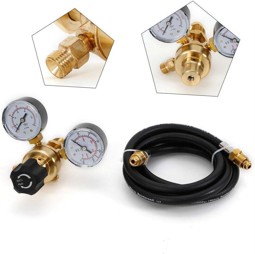 6 Feet Hose CGA580 USA Argon CO2 Tig MIG Flow Meter Welding Regulator Welder Gauge Pressure Reducer Flow Control Valve Mig Welding Gas Regulator