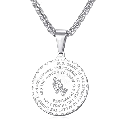 Amazon U7 Bible Verse Prayer Necklace With Free Chain Christian