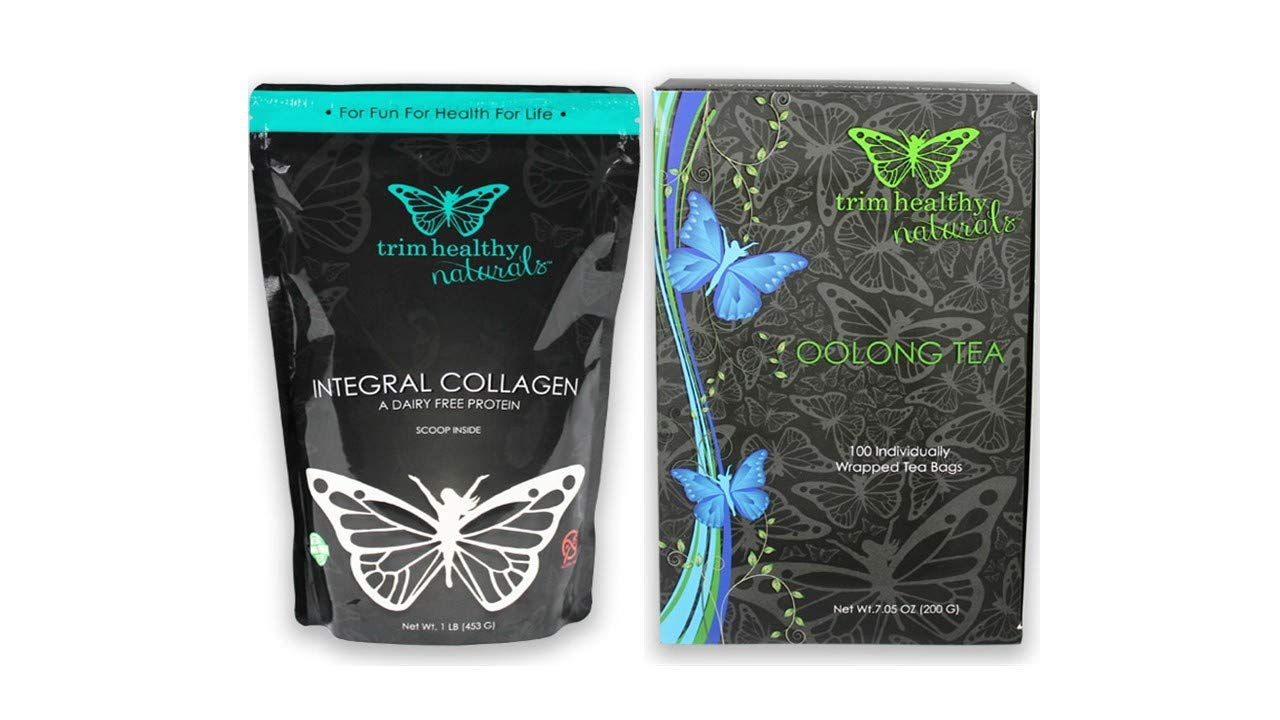 Amazon.com: Trim Healthy Mama Integral Collagen 16oz Bag & Oolong Tea (Box of 100 Individually-Wrapped 2-Gram Bags): Health & Personal Care