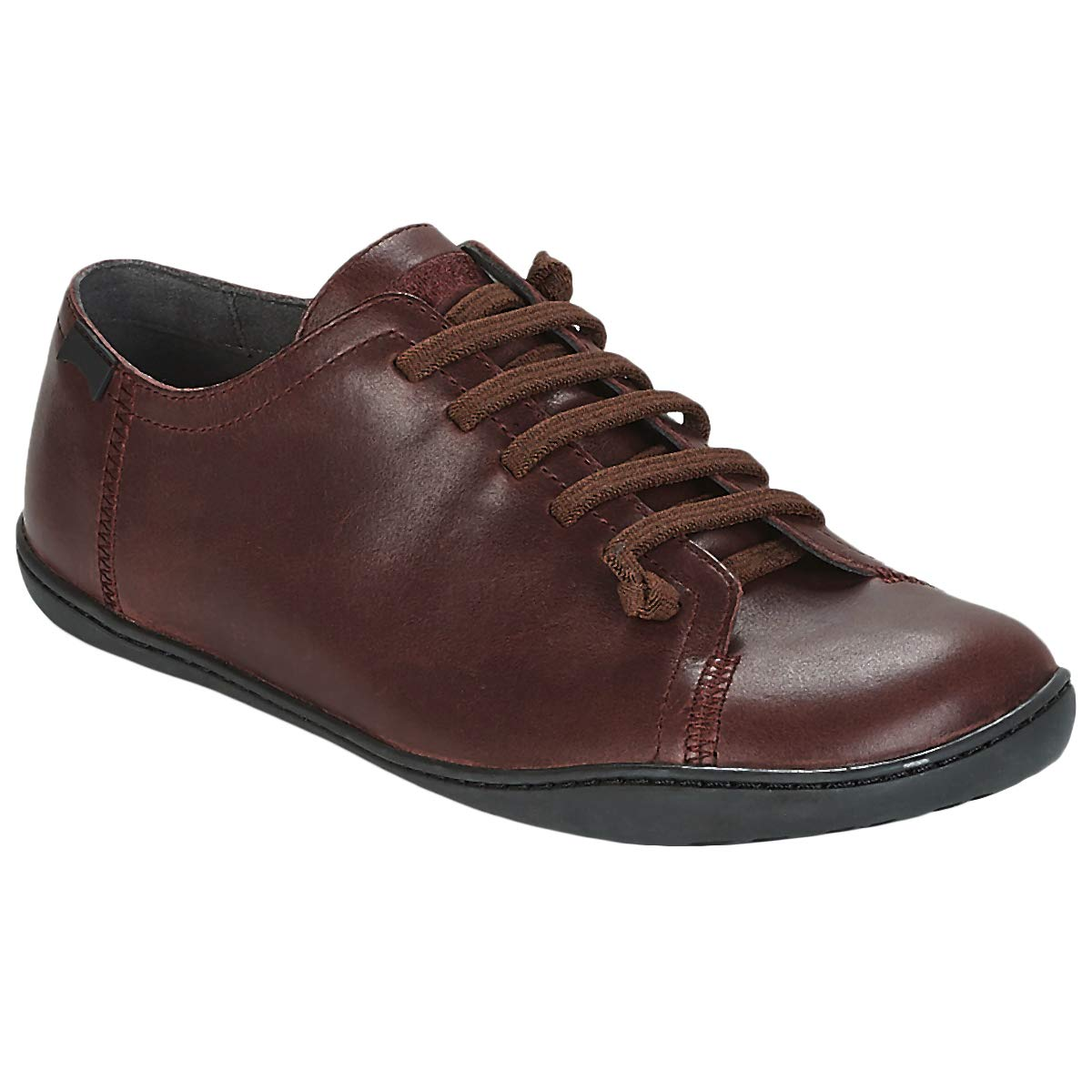 Burgundy Camper Mens Peu Cami Leather shoes