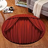 Sophiehome Soft Carpet 71481181 Theater curtain Presentation Movies Anti-skid Carpet Round 34 inches