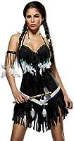Dancing Squaw Disfraz-Carnaval indios Juego completo con vestido y Tomahawk (Tallas S-XL (80048)