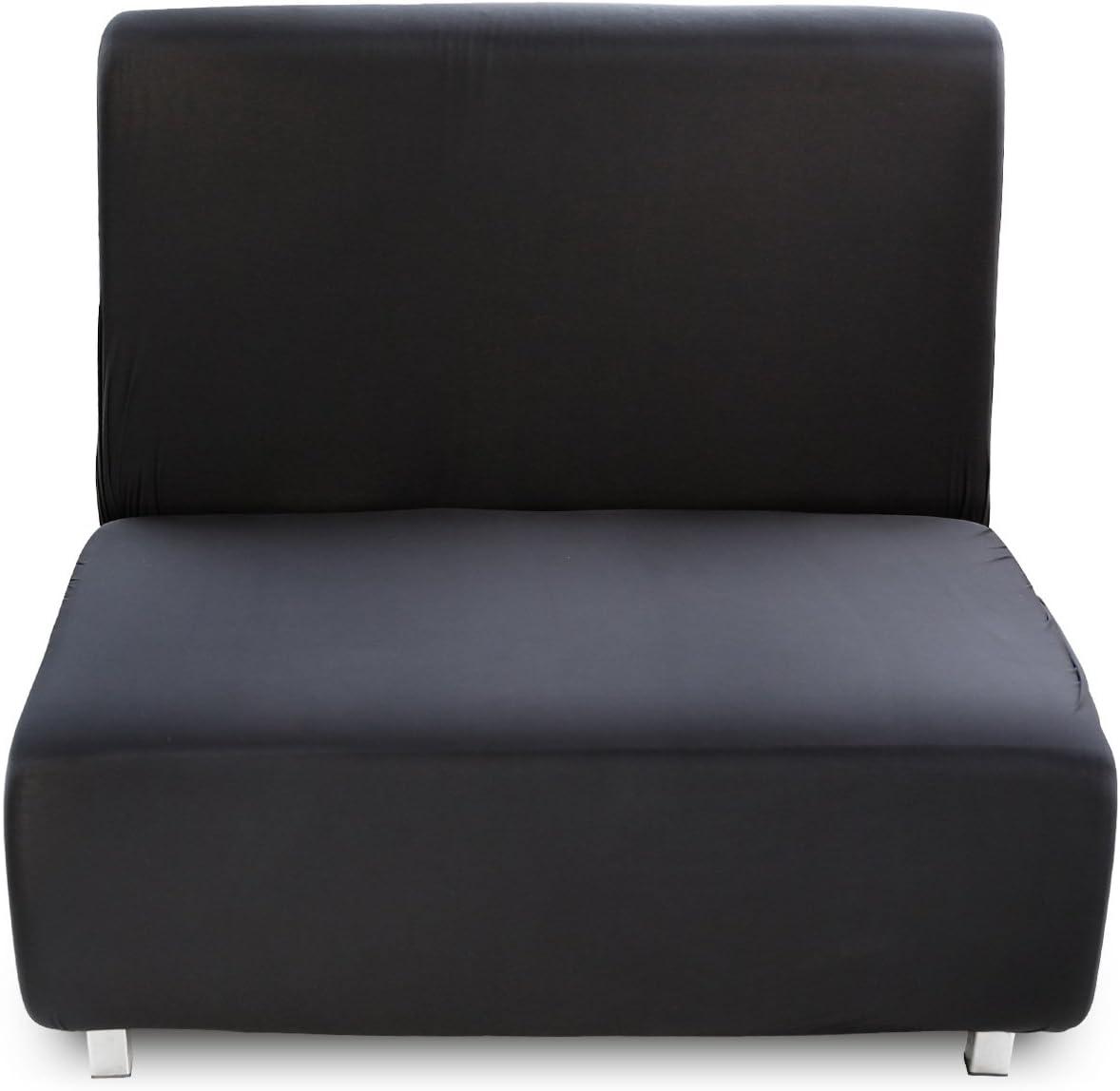 Anladia 1 Sitzer Sofa Husse Sofahusse Schwarz Sofabez/üge Sofabezug elastisch Sesselbezug Sesselhusse Sessel/überwurf M/öbelschutz Sofaschoner Stretchhusse Universal
