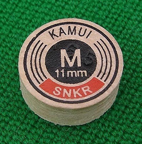 KAMUI Original Brown 11mm Snooker Cue Tip Medium (M) Layered Pigskin Leather Pool Cue Stick Tip