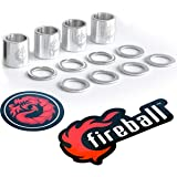 Fireball Dragon Precision Aluminum Spacers and Washers Set for Skateboards and Longboards