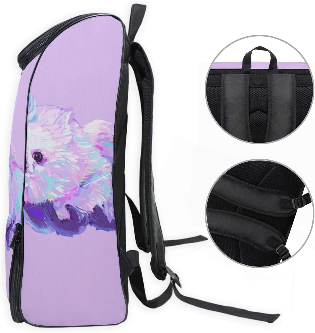 MONTOJ Strange Weird Unicorn Pattern Travel Laptop Backpack Extra Large College School Backpack for Men and Women