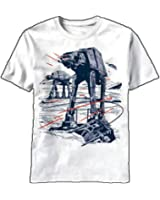 Men's Star Wars Trip Wire AT-AT White T-Shirt