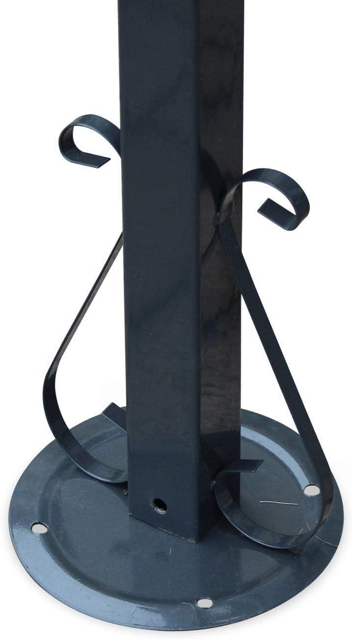 Toldo, pergola de Pared Lugdunum 3m x 2,5 m Antracita Marrón