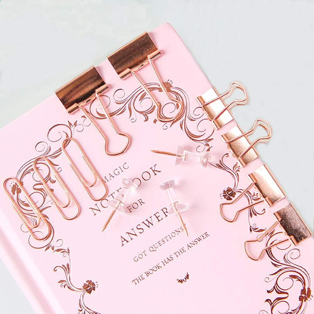 Clips De Papel Clips Clips De Papel Push Pins Sets Con Caja Para Oficina Escuela Y Suministros Para El Hogar Oro Rosa Office Products