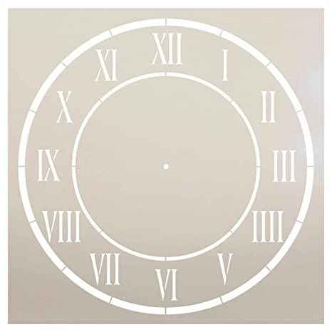 DAnjou - Plantilla de reloj por StudioR12 - Reloj con números romanos - Plantilla