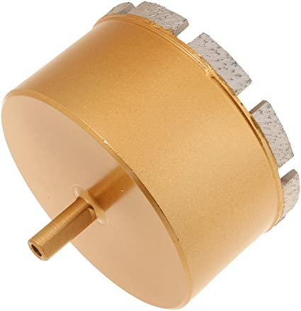 MagiDeal Foret Diamant/é Fraise M/èche Tr/épan pour C/éramique Verre Carrelage 6mm-100mm Or 18mm