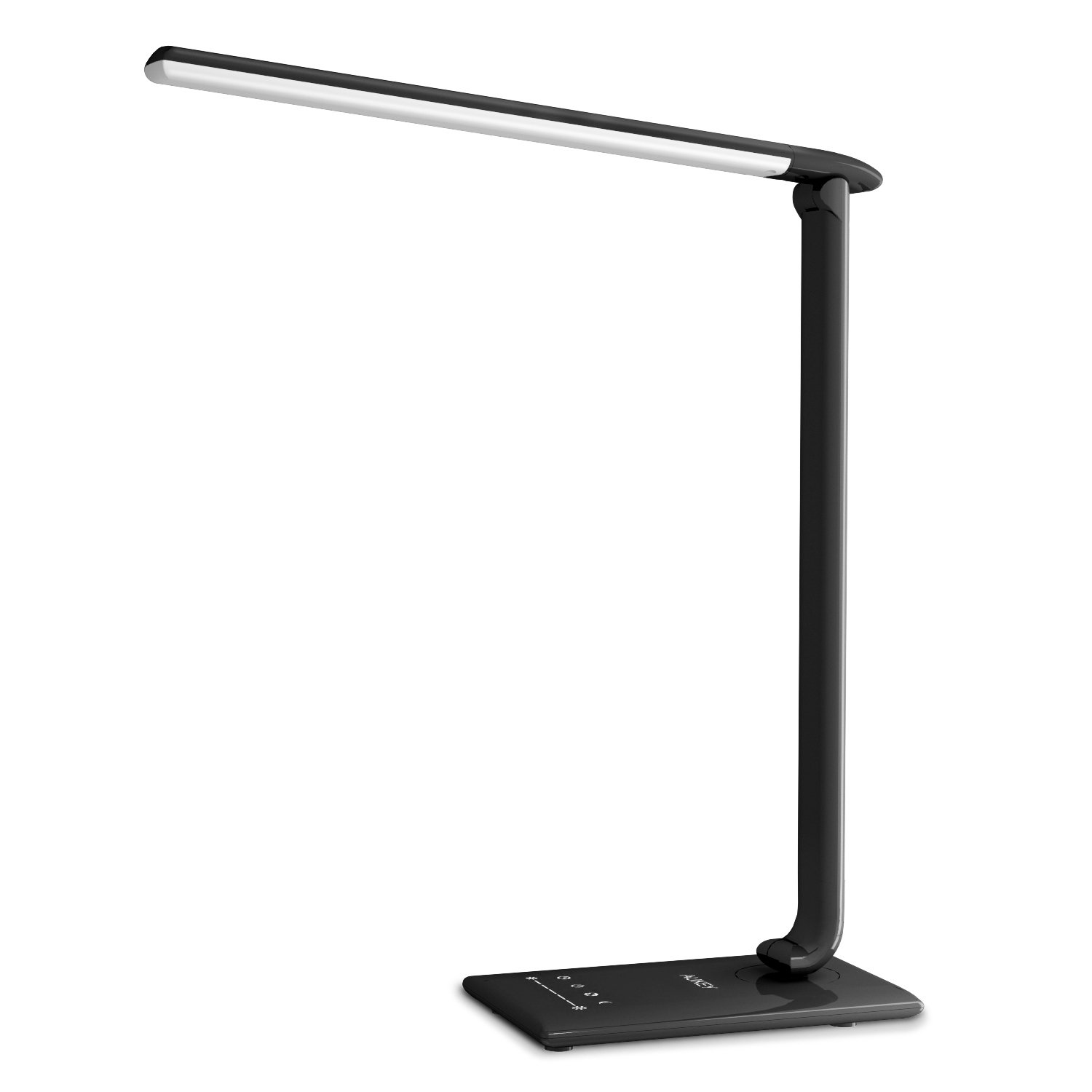 AUKEY Reading Lamp, 12W Dimmable LED Desk Lamp, Office Table Lamps with USB Charging Port, Eye-caring with 7 Level Dimmer, Timer, Touch Control