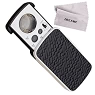 Jewelry Loupes, DREAMZE 30X 60X 90X LED Lighted Illuminated Jewelers Eye Loupe Jewelry Magnifier for Gems Jewelry Rocks Stamps Coins Watches Hobbies Antiques Models Photos - Black