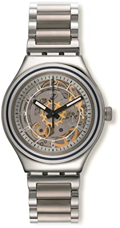 Swatch Irony Uncle Charly Silver Dial Stainless Steel Unisex Watch YAS112G