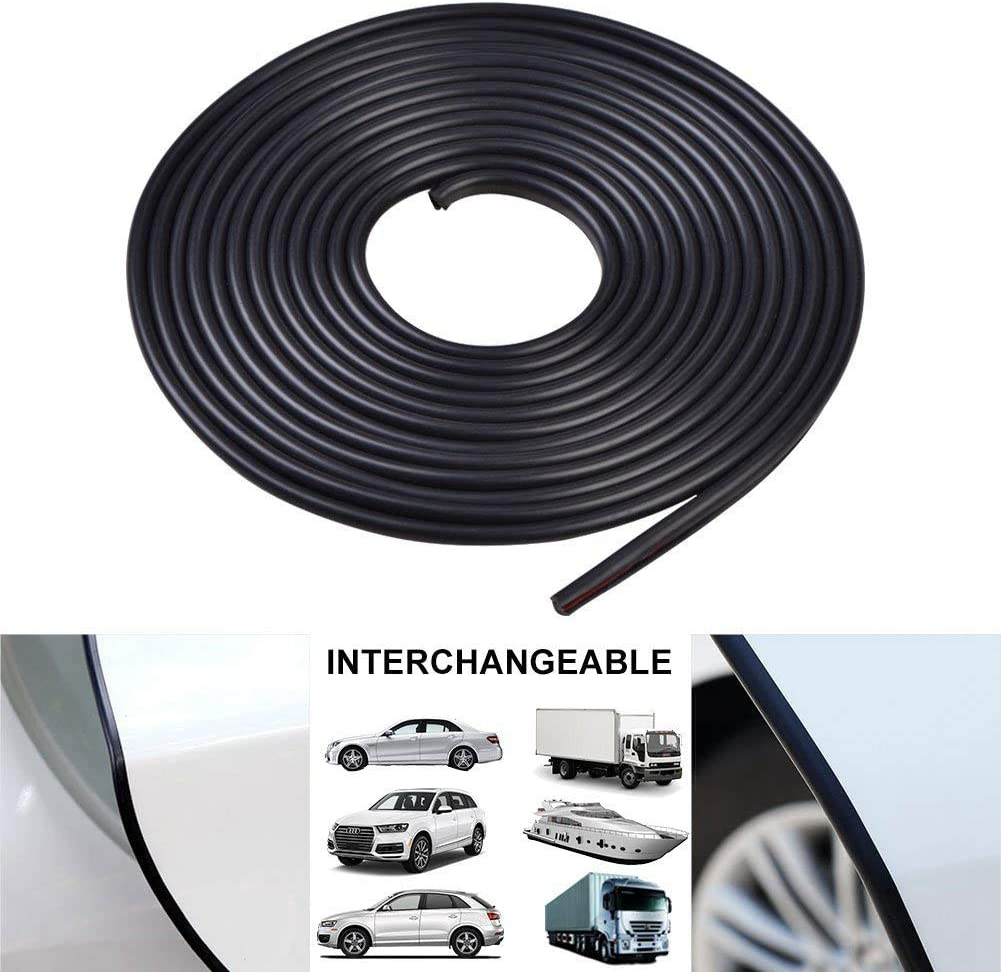 Car Trim Bumper Protector Fit Most Cars Anti-Collision Seal Flexible Door Sill Protector with Strong Adhesive Ejoyous 5m Car Door Edge Protector Strip White