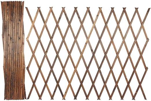 YINUO Cercos Cerca del jardín del anuncio de pantalla cama de niño Barandilla flor Protección de las Plantas Borde anti-oxidación Resistente a la corrosión de madera maciza de carbonización, 2 colores: Amazon.es: