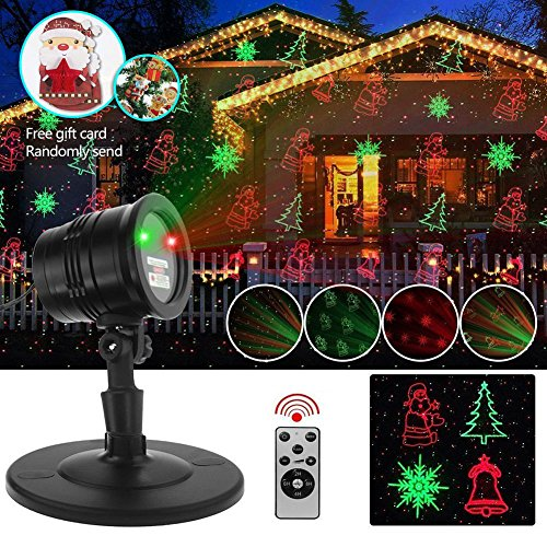 Laser Lights Projector, Sarah Ambrecht Christmas Laser Lights with 5 Lighting Patterns, RF Wireless Remote IP65 Waterproof Decorative Holiday Lighting Projectors for Garden,Holiday,Wedding, Party