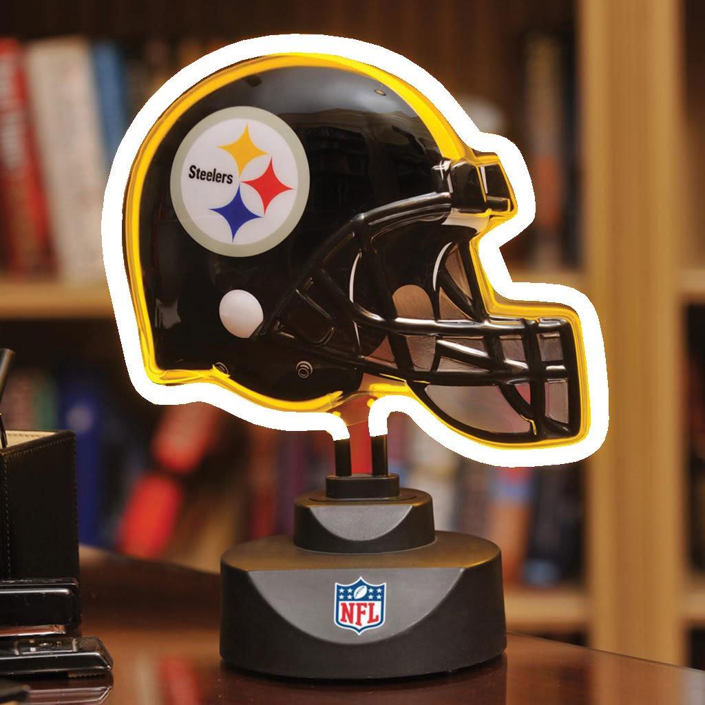 The Memory Company Pittsburgh Steelers Neon Helmet Lamp