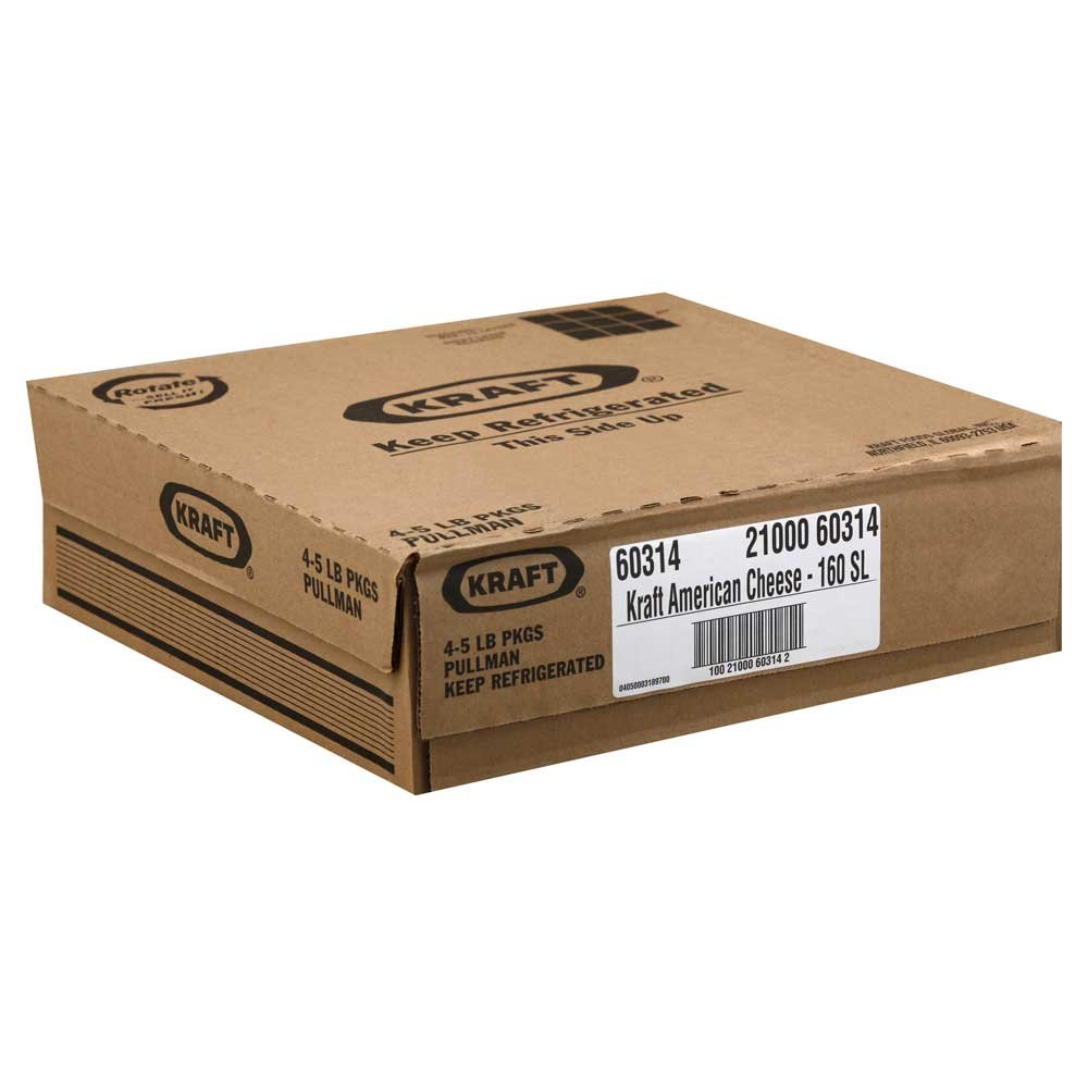 Kraft American Sliced Cheese, 5 Pound -- 4 per case.