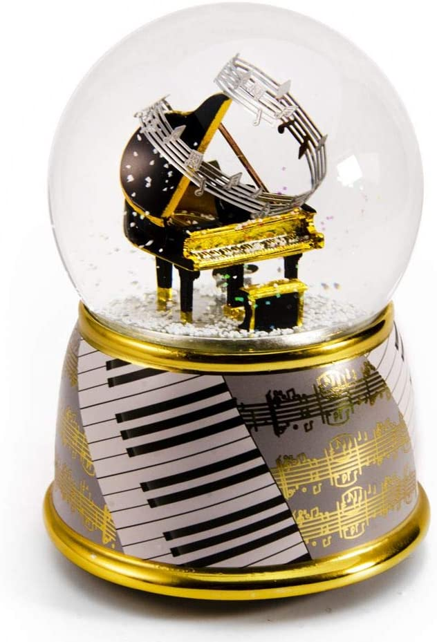 Music Theme Grand Piano with Painted Base Musical Water/Snow Globe - Many Songs to Choose - My Old Kentucky Home