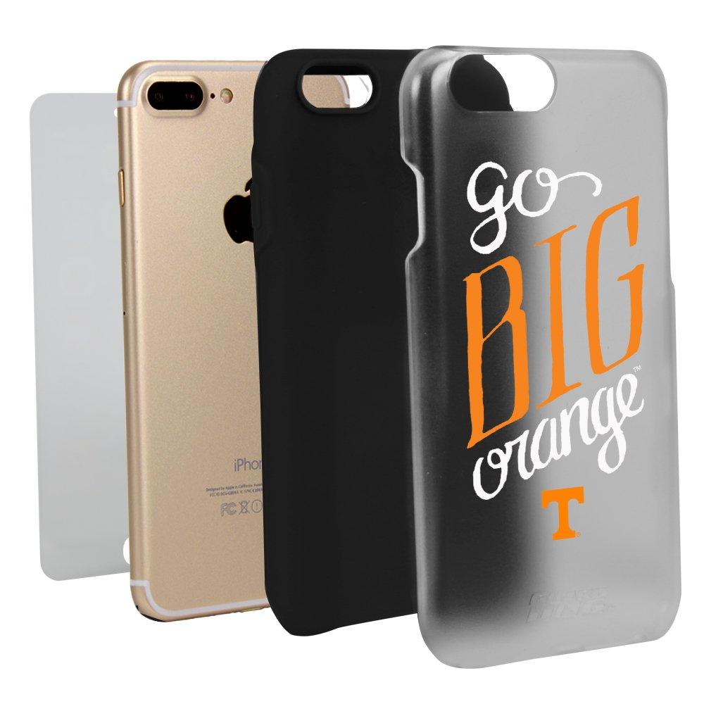 テネシーボランティアGo Bigオレンジクリアハイブリッドケースfor iPhone 7 Plus / 8 Plus Withガードガラススクリーンプロテクター   B01N8QGSCX