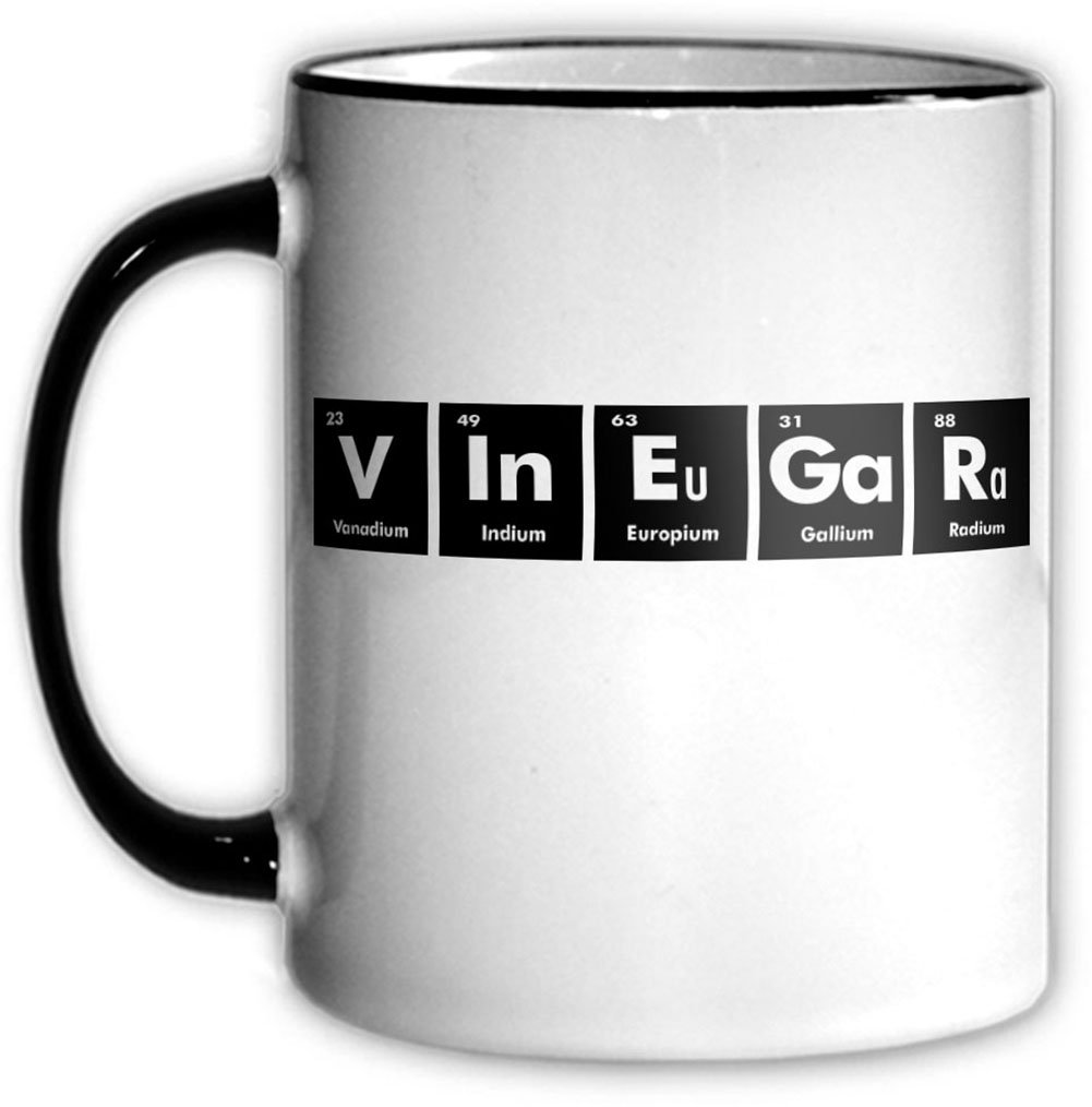 Amazon vinegar periodic table coffee tea mug with chemical amazon vinegar periodic table coffee tea mug with chemical symbols for a science nerd or geek funny office gift kitchen dining gamestrikefo Gallery