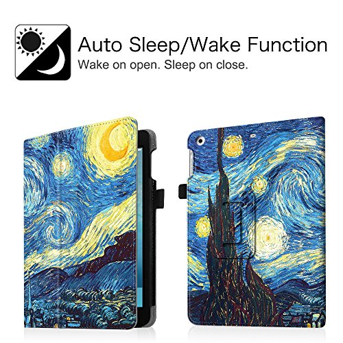 Fintie iPad mini 1/2/3 Case - Folio Slim Fit Stand Case with Smart Cover Auto Sleep / Wake Feature for Apple iPad mini 1 / iPad mini 2 / iPad mini 3, Starry Night Photo #6