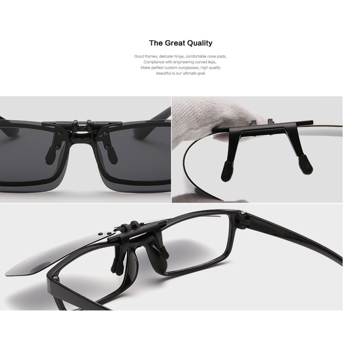 40664bd813c Clip On Sunglasses Mens Titanium Flexible Polarized Lenses Glasses Laura  Fairy 55 )