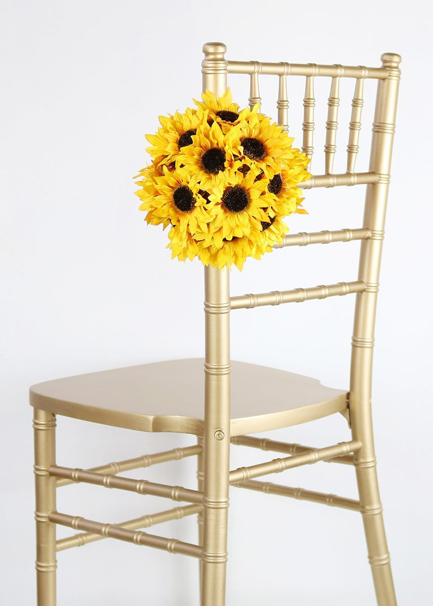 Amazon.com: Wholesale Silk Floral Sunflower Ball with Hanger, 7 ...