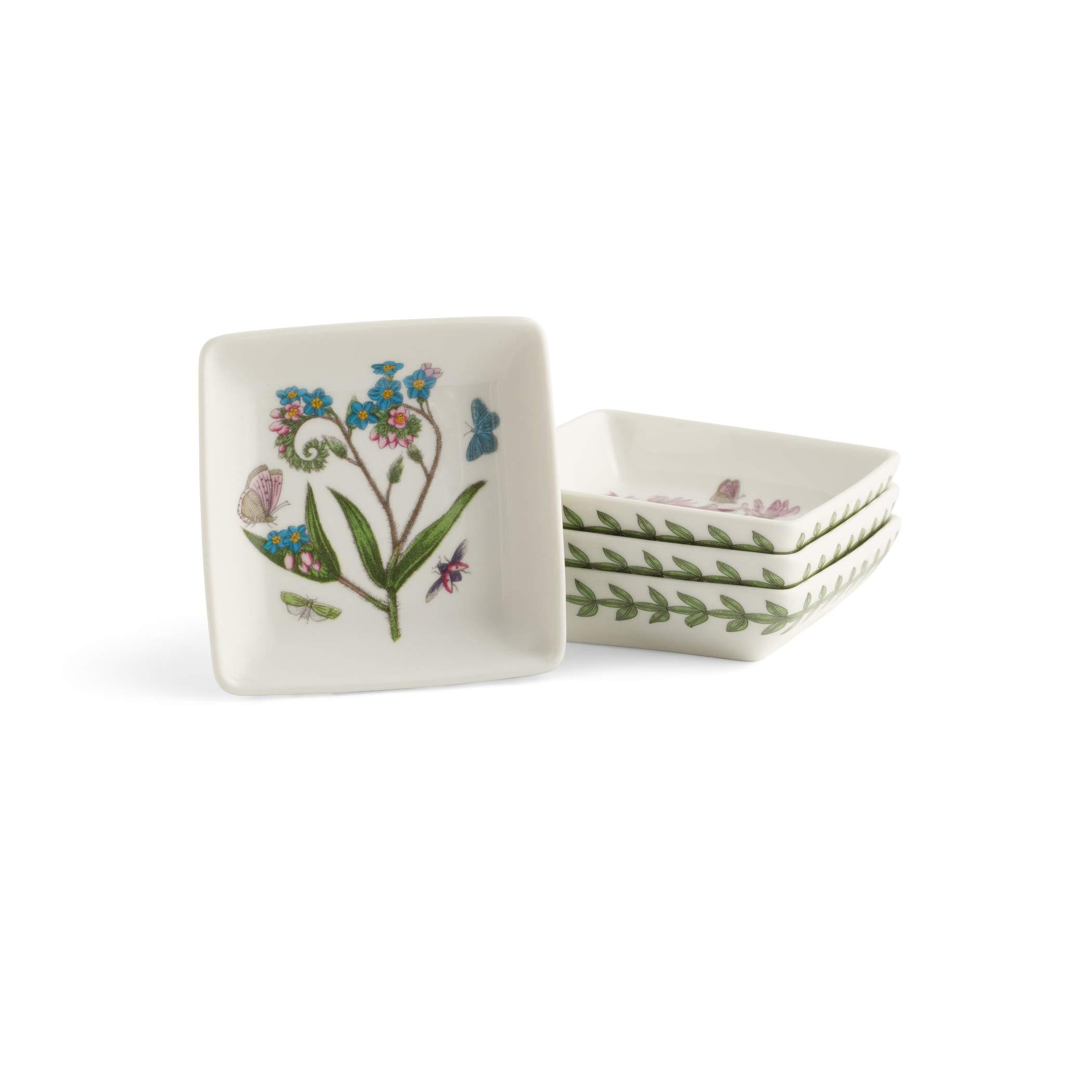 Portmeirion Botanic Garden Set of 4 Square Mini Dishes