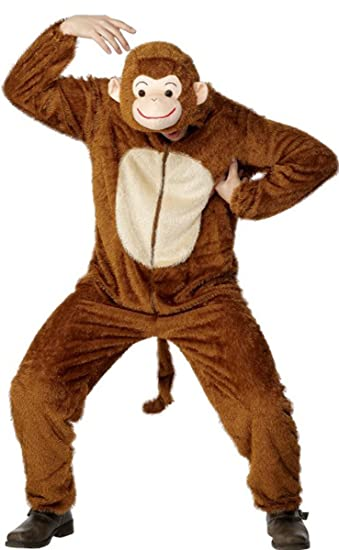 Unisex Adult Party Animals Fancy Dress Monkey Complete Costume Adult ...