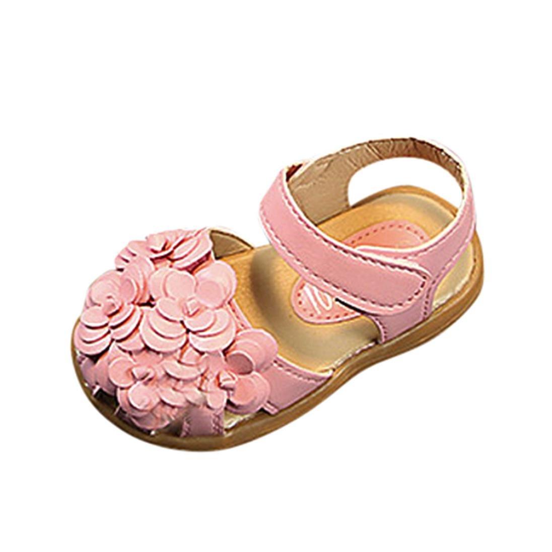 Zapatos Niña Bebé ❤ Amlaiworld Verano Sandalias de Cuero de niñas bebé Flor Zapatos de Princesa Sandalia de Playa Zapatilla de Chica Zapatos de bebé ...