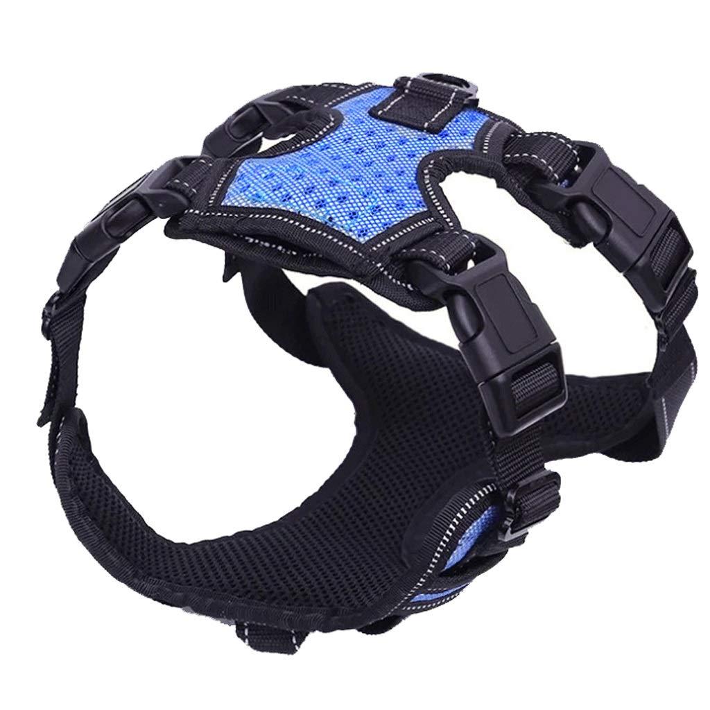 bluee Large bluee Large Pet Supplies Explosion-Proof Chest Straps Large Dog Pet Leash 4 color Optional (color   bluee, Size   L)