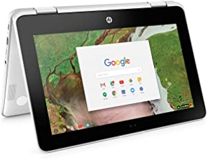 "2019 HP Chromebook X360 Convertible 11.6"" HD Touchscreen 2-in-1 Tablet Laptop Computer, Intel Celeron N3350 up to 2.4GHz, 4GB DDR4 RAM, 32GB eMMC, 802.11AC WiFi, Bluetooth 4.2, USB 3.1, Chrome OS"
