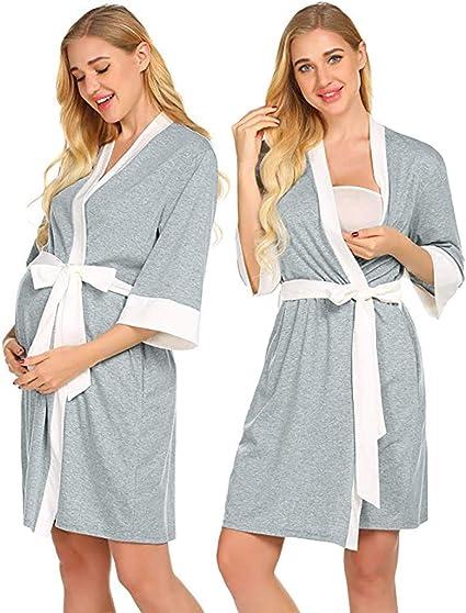Camisón de maternidad para lactancia, para lactancia, camisa, pijama, bata de hospital, para mujer: Amazon.es: Oficina y papelería