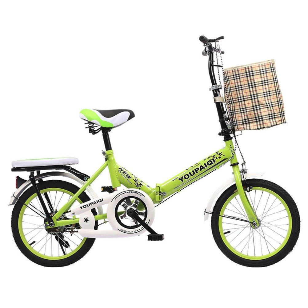 学生折りたたみ自転車, 子供用折りたたみ自転車 折りたたみバイク子供 学生 高齢者の ≥8 の子供たち B07DK75TYS 20inch|緑B 緑B 20inch