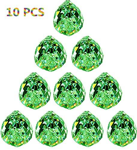 Crystal Ball Prisms Pendant Feng Shui Suncatcher Decorating Hanging Faceted Prism (Feng Shui Green Pendant)