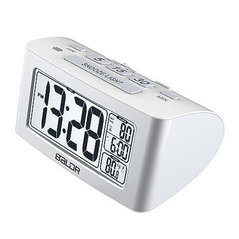LambTown Reloj de Alarma Despertador Electrónico con Batería con Temporizador de Cuenta Regresiva para la Cocina, Pantalla LCD Grande con Luz de Fondo ...