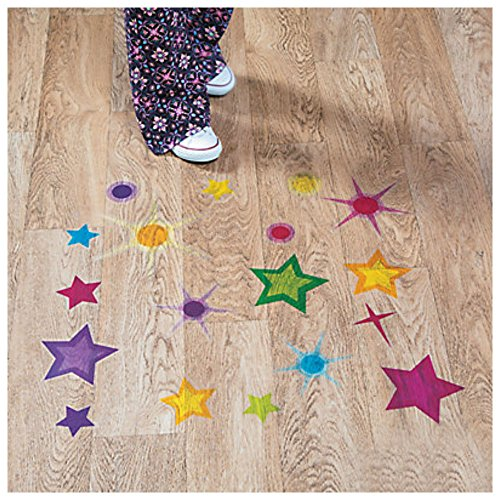 God's Galaxy VBS Star Floor Clings Christmas Home Room Decorations by Unbranded*